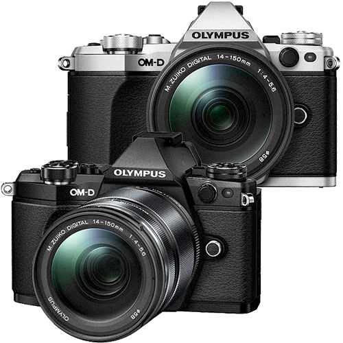 OLYMPUS OM-D E-M5 Mark II + 14-150mm F4.0-5.6 II (公司貨)-加送64G 48mb卡+原廠電池+快門線+保護鏡+大吹球清潔組+拭鏡筆+單眼專用皮質手腕帶
