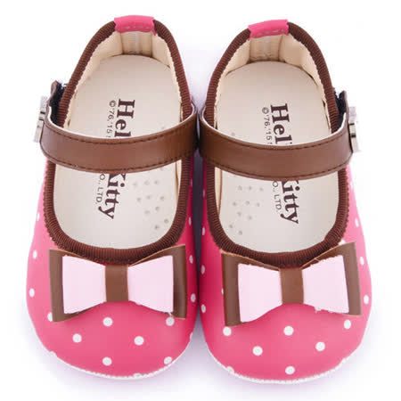 童鞋城堡-Hello kitty 小童 蝴蝶結寶寶學步鞋 715930-桃