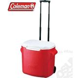 Coleman CM-0026-紅 26.5L拖輪置物型冰桶
