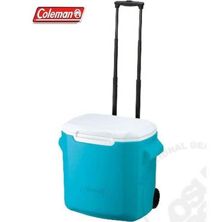 美國 Coleman 26.5L拖輪置物型冰桶
