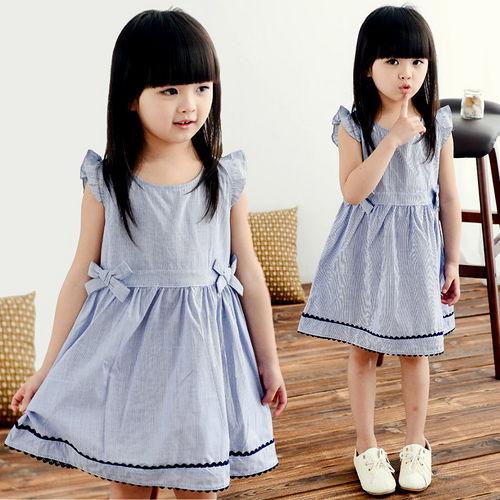 夏日《藍色雙結款》甜美氣質小洋裝【現貨+預購】