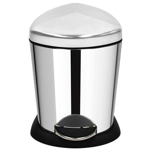 家簡塵除- 金盾型不鏽鋼腳踏式垃圾桶 (5L)