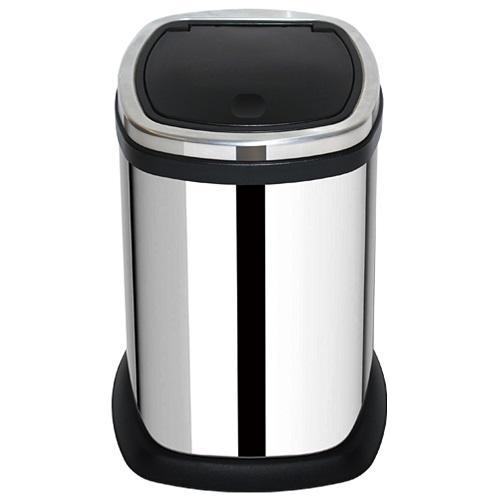 家簡塵除- 靚亮不鏽鋼手動油壓式垃圾桶 (11L)