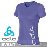 【瑞士 ODLO】女新款 EVENT 套頭衫短袖圓領大LOGO T恤/吸濕排汗衣.運動上衣/抗UV.快速排汗.透氣.輕量化 粉紫 321841