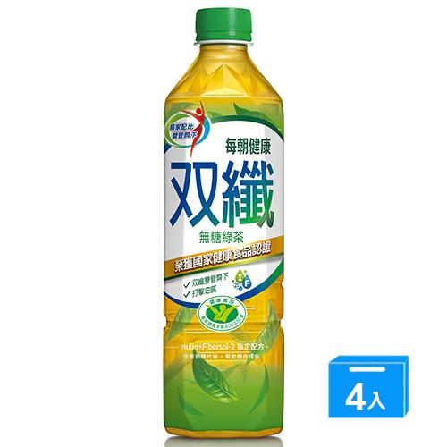 每朝健康雙纖綠茶PET650MLx4