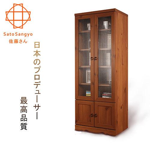 【Sato】 PISTRO巴黎公寓四門玻璃高置物櫃‧幅60cm