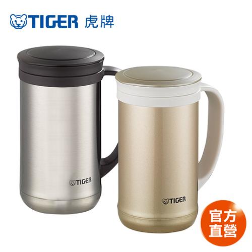 【TIGER虎牌】500cc不鏽鋼真空保溫保冷辦公室杯_茶濾網系列(MCM-T050)