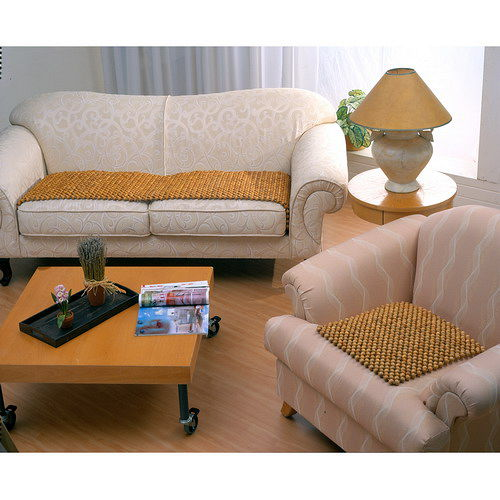 格藍傢飾-檜木珠沙發坐墊55*55CM-(4入)