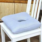 【格藍傢飾】透氣舒壓健康中空坐墊(太空灰)-2入