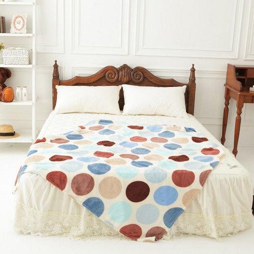 格藍寢飾-簡約系列輕柔四季毯-普普彩點(2入)