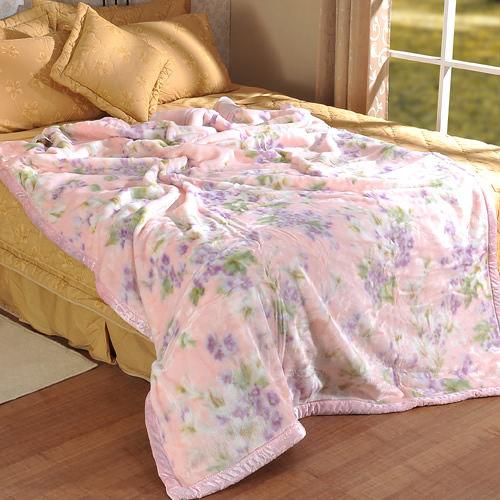 格藍寢飾-幸福花語雙層毛毯(140*200CM)