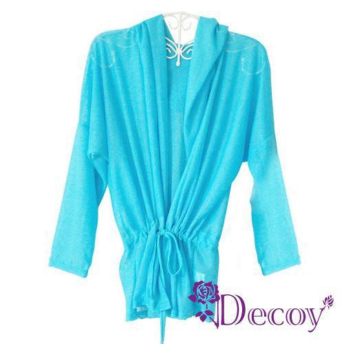 【Decoy】艷夏防曬*連帽縮腰空調衫/三色可選