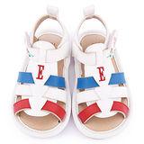 ELLE 小童 編織繫帶寶寶涼鞋ELKK50599-白
