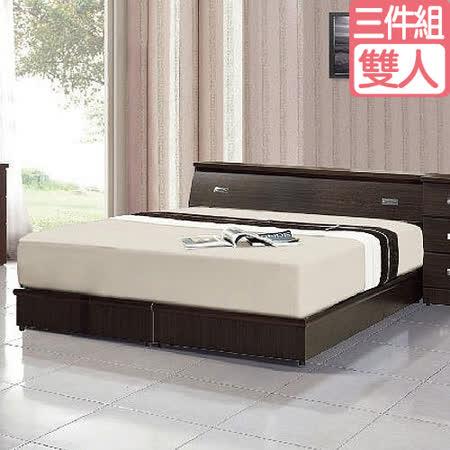 藏愛臥室三件組 床墊+床頭箱+床底