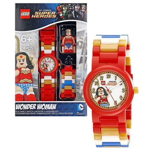 【 樂高積木 LEGO 】兒童手錶 - 超級英雄 神力女超人