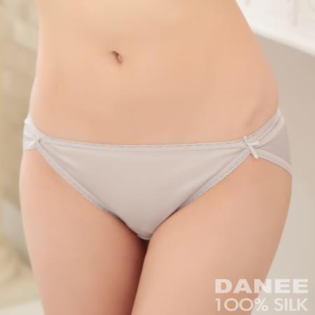 【岱妮蠶絲】純蠶絲42針70G雙蝴蝶結低腰高衩內褲