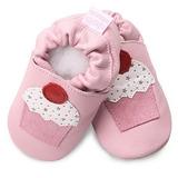 英國 shooshoos 安全無毒真皮手工鞋/學步鞋/嬰兒鞋 淡粉/杯子蛋糕(公司貨)
