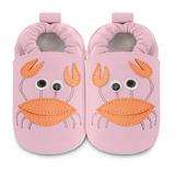 英國 shooshoos 安全無毒真皮手工鞋/學步鞋/嬰兒鞋 螃蟹小姐(公司貨)