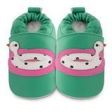 英國 shooshoos 安全無毒真皮手工鞋/學步鞋/嬰兒鞋 鴨子橡膠泳圈(公司貨)