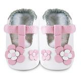 英國 shooshoos 安全無毒真皮手工鞋/學步鞋/嬰兒鞋 糖果粉玫瑰花瓣(公司貨)
