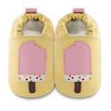 英國 shooshoos 安全無毒真皮手工鞋/學步鞋/嬰兒鞋 粉紅冰棒(公司貨)