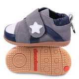 英國 shooshoos 安全無毒真皮手工學步鞋/童鞋 灰色小星星童鞋(公司貨)