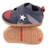 英國 shooshoos 安全無毒真皮手工學步鞋/童鞋 海軍藍小星星童鞋(公司貨)
