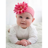 美國Jamie Rae 100%純棉髮帶 糖果粉寬髮帶+甜蜜糖果粉雛菊 (JRHBD01)