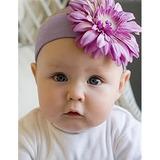 美國Jamie Rae 100%純棉髮帶 薰衣草紫寬髮帶+薰衣草紫雛菊 (JRHBD08)