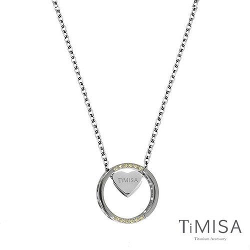【TiMISA】幸運心指輪 純鈦項鍊(E)