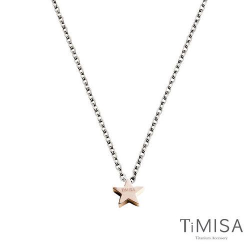 【TiMISA】迷你幸運星(M) (雙色)純鈦項鍊(C)