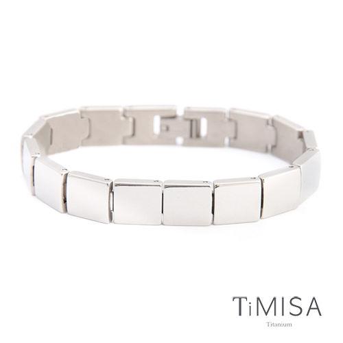 【TiMISA】樂活時尚-寬版 純鈦鍺手鍊