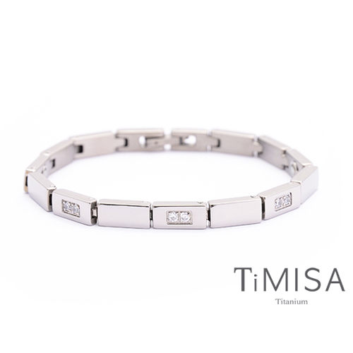 【TiMISA】陽光森林 - 晶鑽版 純鈦鍺手鍊
