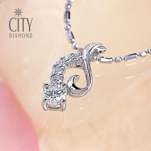 City Diamond『迷幻音符』22分鑽石項鍊[遠銀卡友專屬]