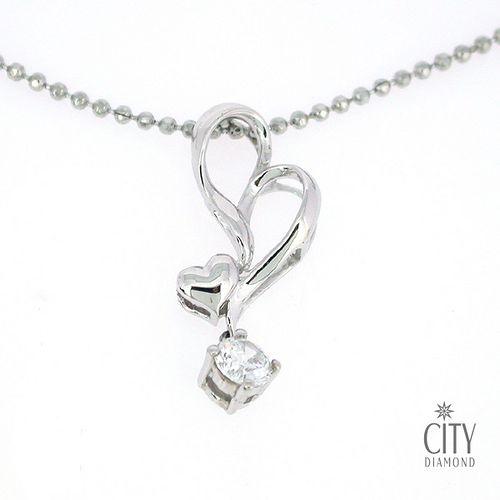 City Diamond『曲戀』K金項鍊