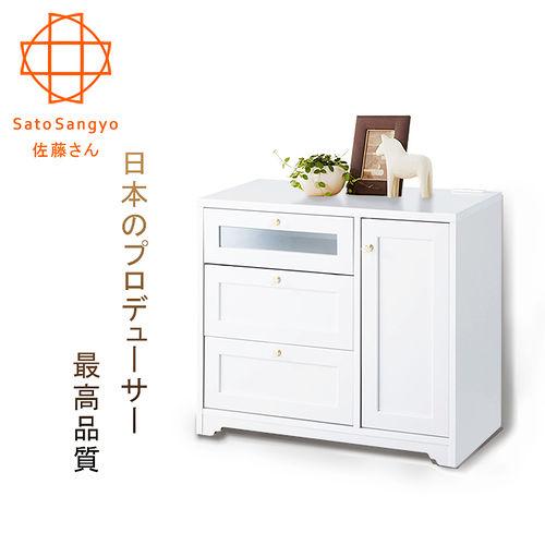 ~Sato~ANRI小日子下掀雙抽櫃‧幅58cm  樸素白
