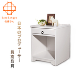 【Sato】ANRI小日子單抽開放邊櫃‧幅40cm (樸素白)