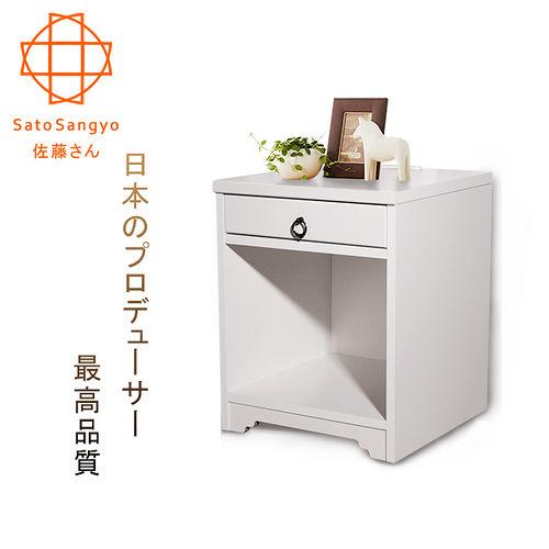 ~Sato~ANRI小日子單抽開放邊櫃‧幅40cm  樸素白