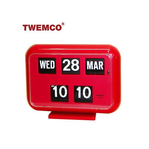 【TWEMCO】復古收藏翻頁鐘 QD-35 桌立壁掛兩用 (英文日期)