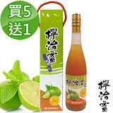 買5送1【檸治靈】手工萃取檸檬醋禮盒(600ml/瓶)