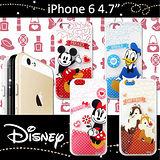 迪士尼授權正版 iPHONE 6 4.7吋 休閒點點透明軟式保護套 手機殼 (經典組)