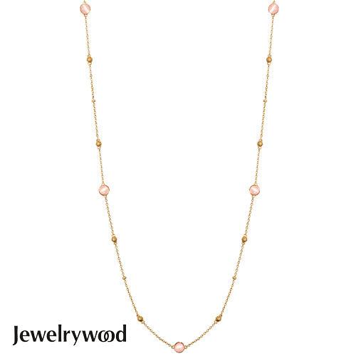 Jewelrywood 純銀拜占庭復古玫瑰石英項鍊