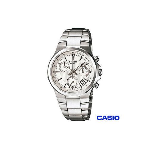 【CASIO卡西歐】光芒紋路時尚計時女錶 SHE-5019D-7A