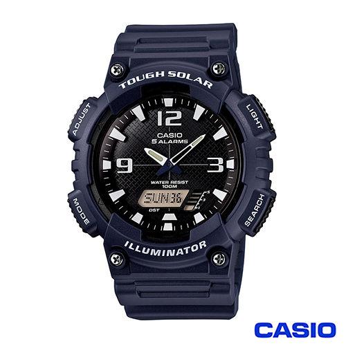 CASIO卡西歐 英超球隊風格時尚雙顯優質腕錶-藍 AQ-S810W-2A2