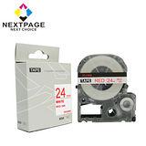 【台灣榮工】EPSON 一般相容標籤帶 LC-6WRN(白底紅字 24mm)【NEXTPAGE】