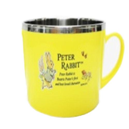 【クロワッサン科羅沙】Peter Rabbit~ 經典比得兔不銹鋼水杯 黃021415