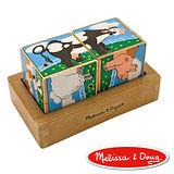 美國瑪莉莎 Melissa & Doug 聲音拼圖 - 農場動物立體方塊