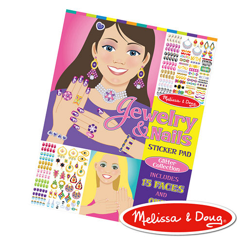 美國瑪莉莎 Melissa & Doug 時尚貼貼樂 – 珠寶與指甲彩繪