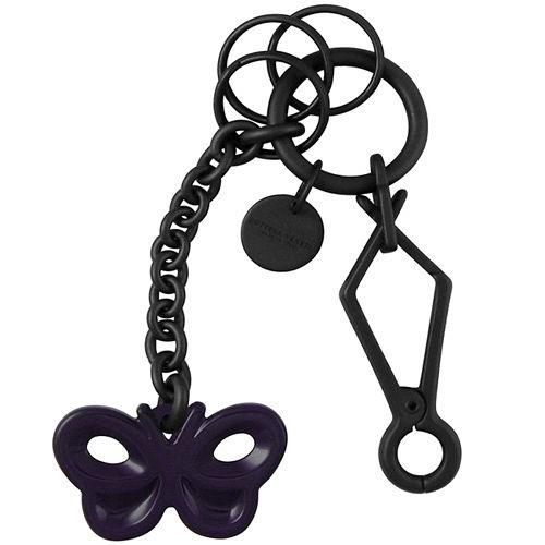 BOTTEGA VENETA 蝴蝶鑰匙圈吊飾(紫色)