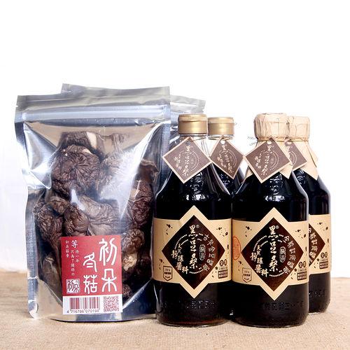 【黑豆桑】醬香菇味組(金豆醬油x2+缸底醬油x2+初朵冬菇x2)